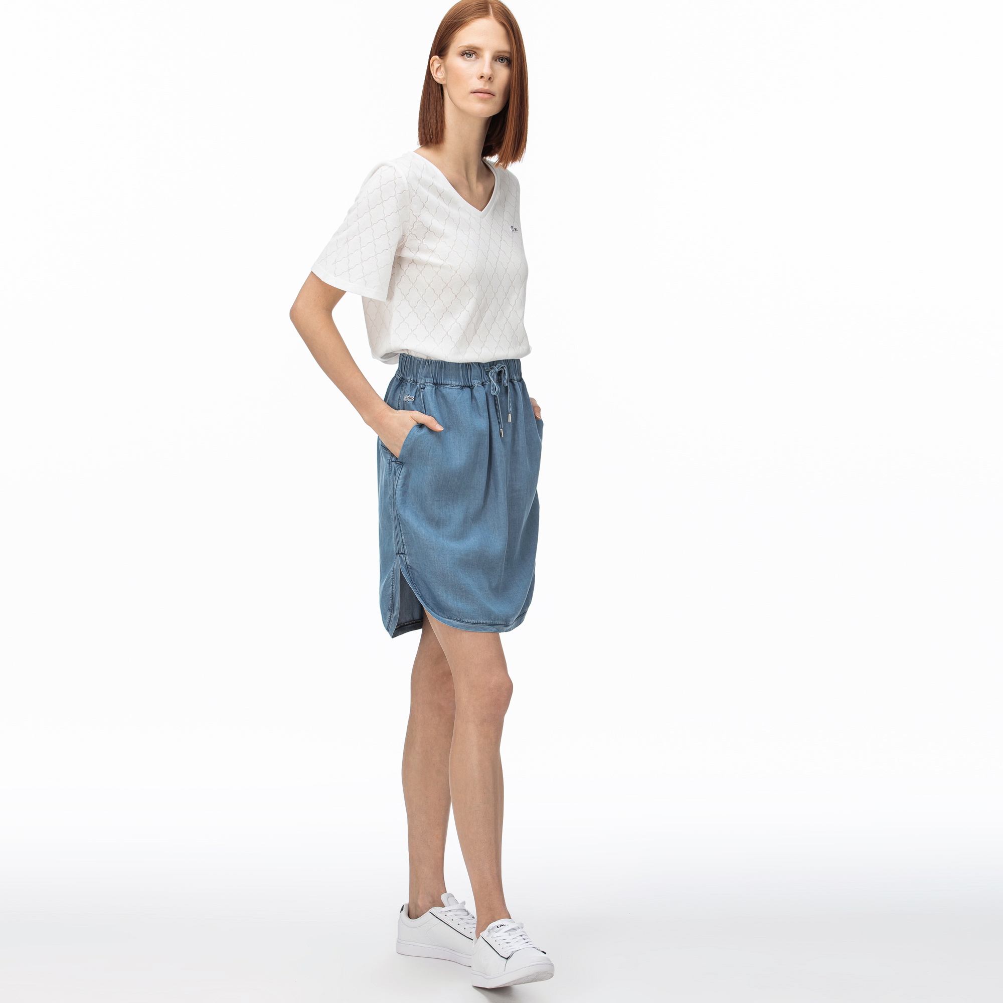 Lacoste Women's Denim Skirt