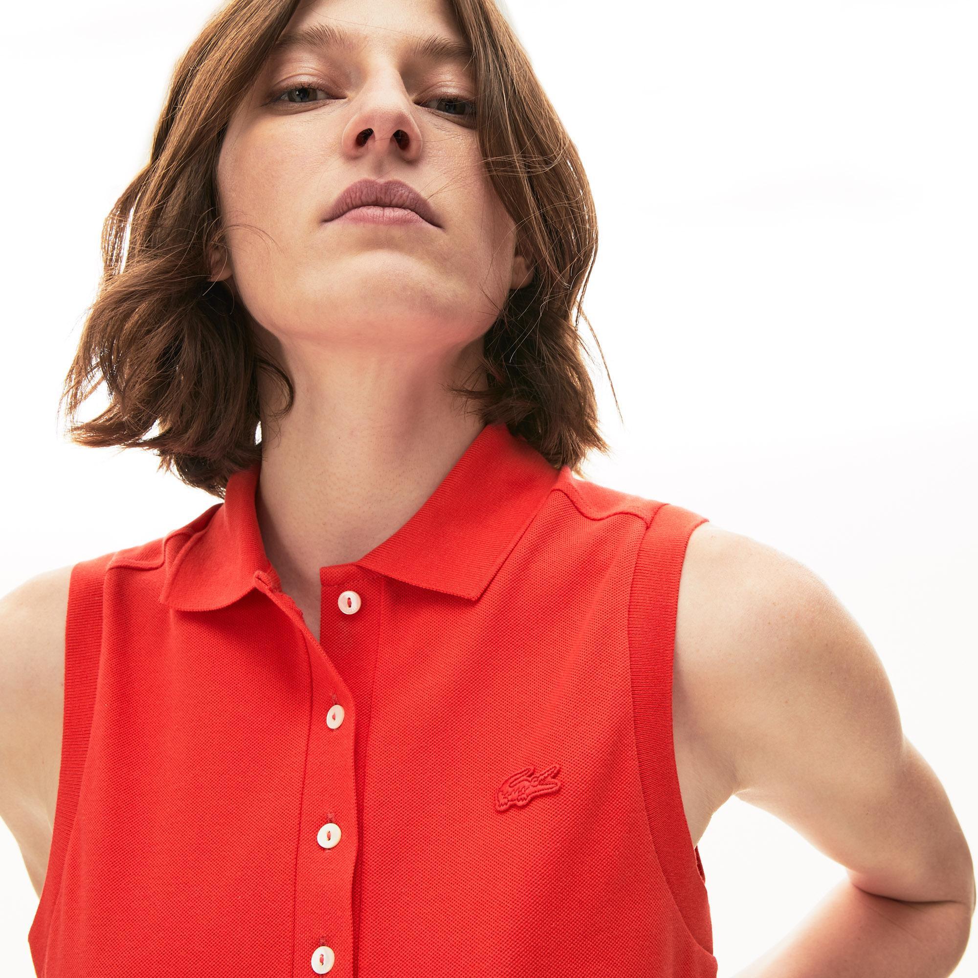 Lacoste Women's Sleeveless Cotton Piqué Polo