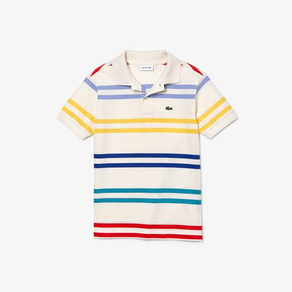 Lacoste Boy's Striped Coloured Polo