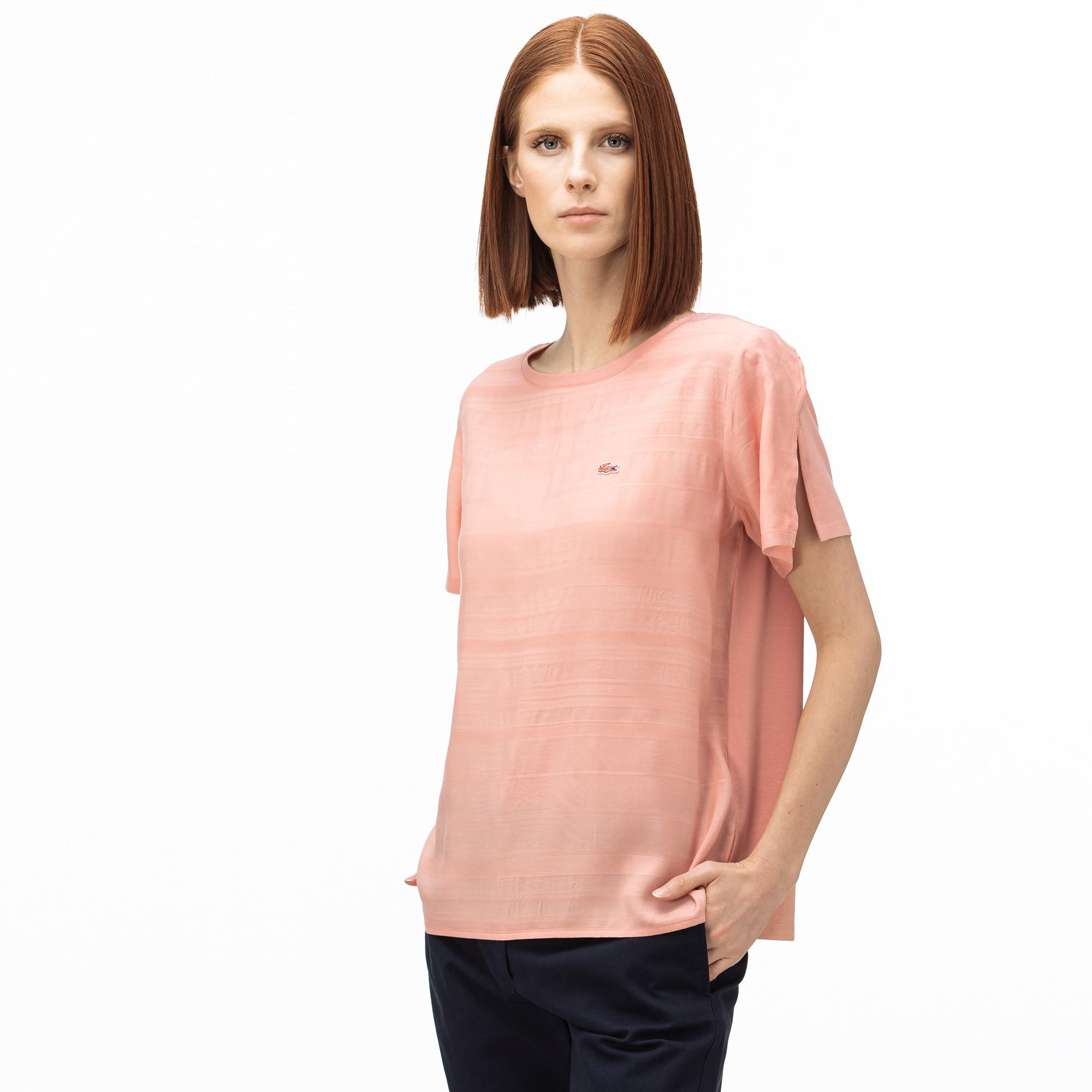 Lacoste Women's Boat Neck Striped T-Shirt