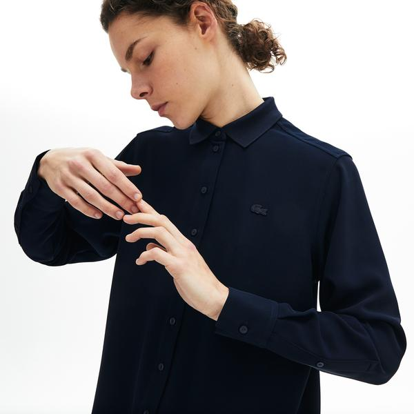 Lacoste Women's Relaxed Fit Flowy Blouse