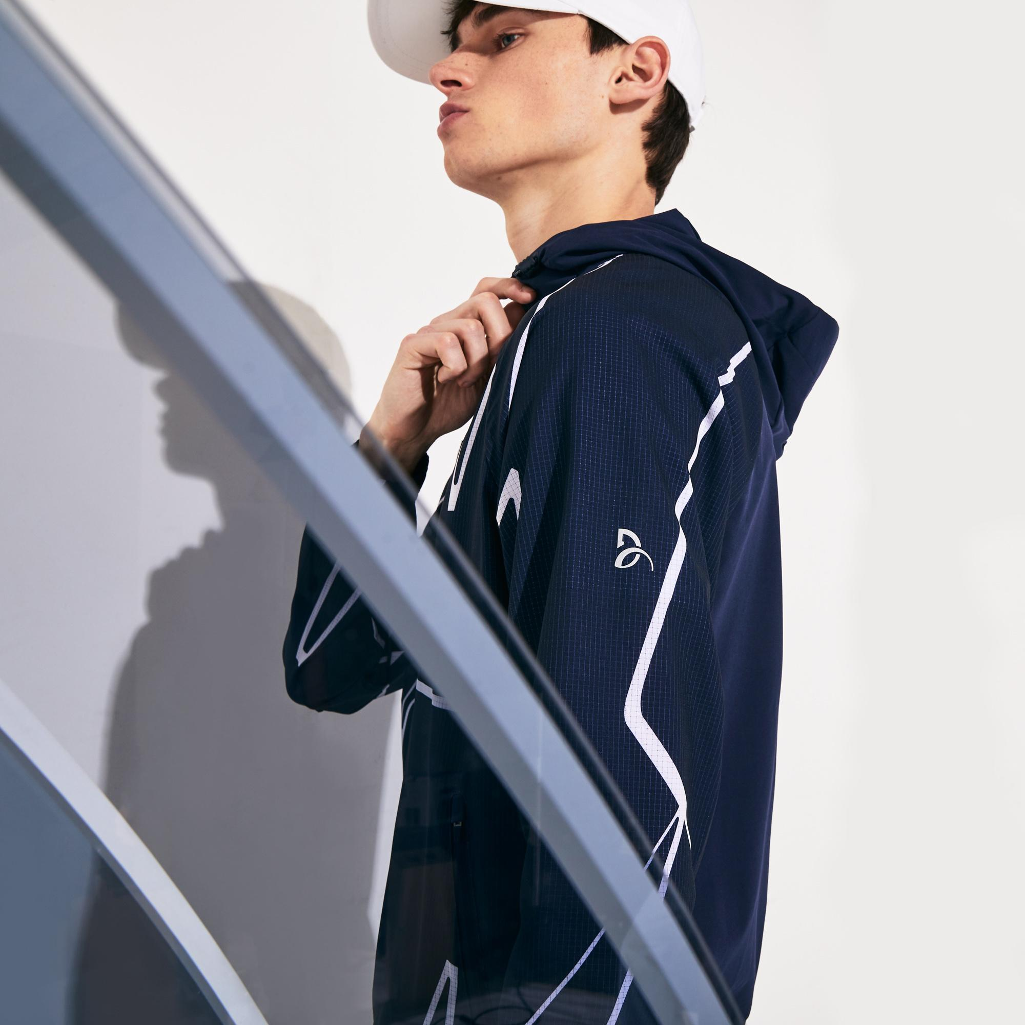 Lacoste Men's Sport Graphic Hooded Jacket
