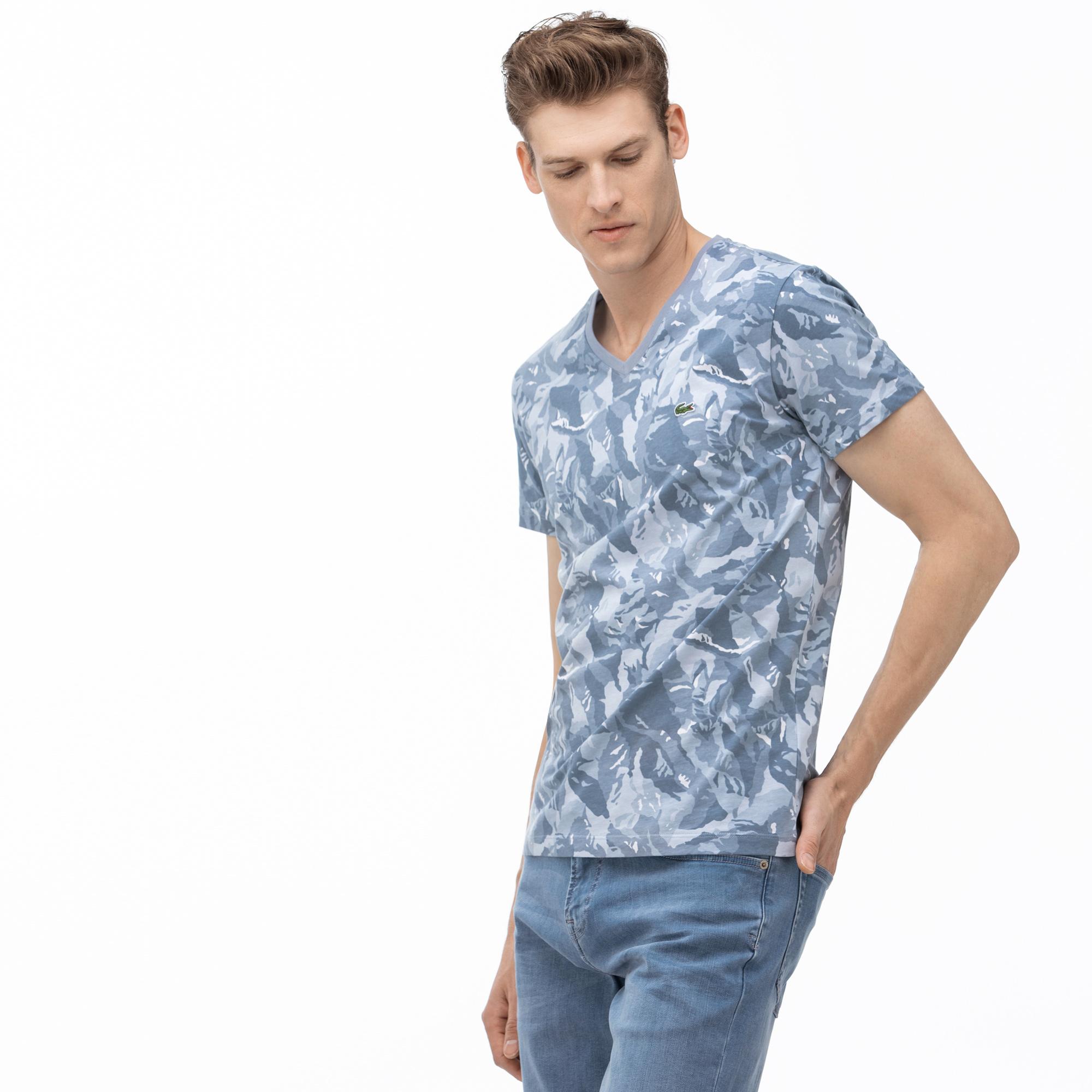 Lacoste Men's V-Neck Graphic T-Shirt