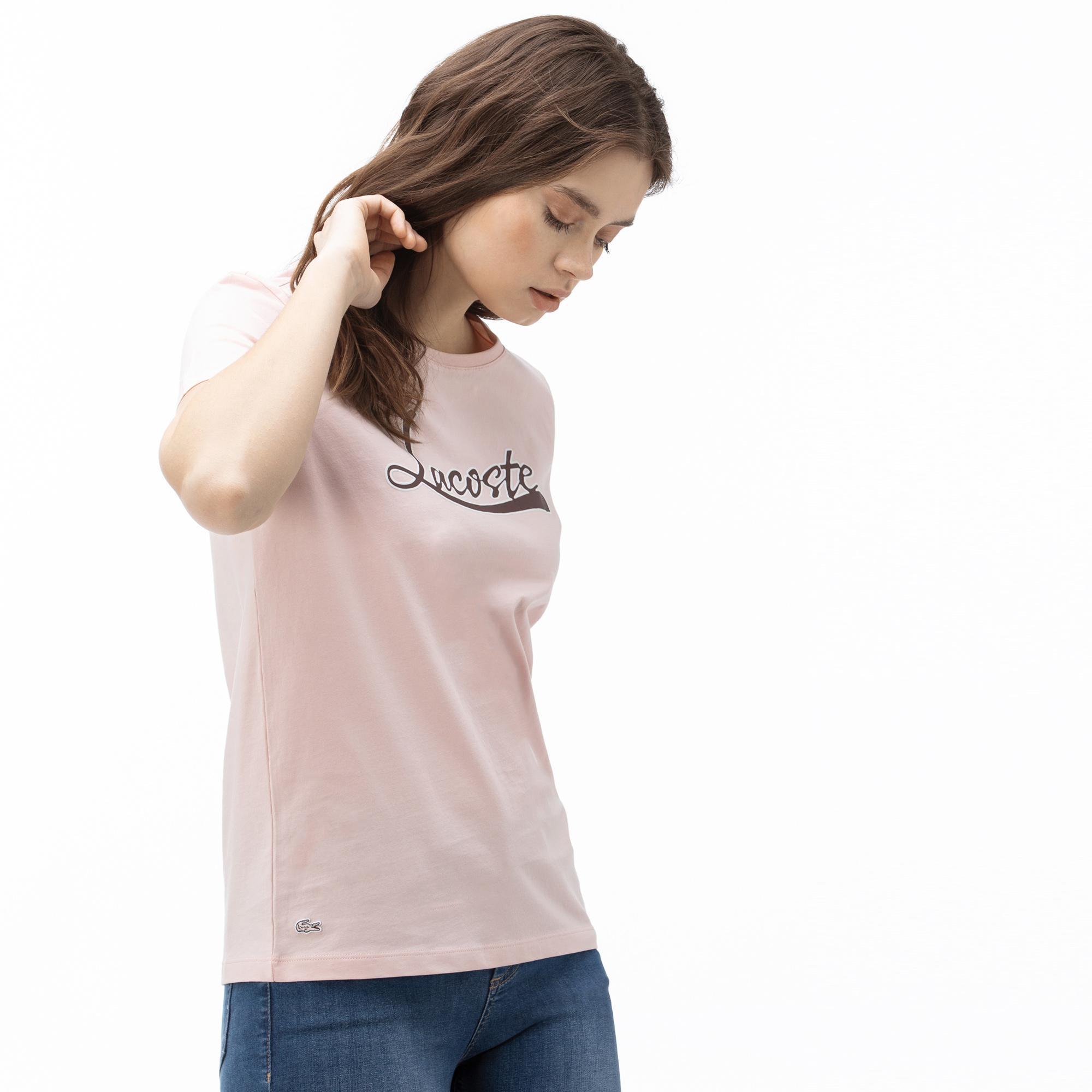 Lacoste Women's Boat Neck Graphic T-Shirt