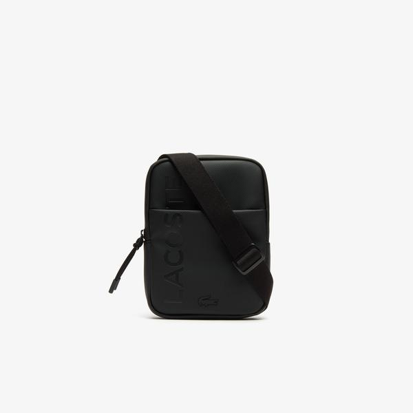 Lacoste Men's L.12.12 Branded Zippered Small Flat Bag