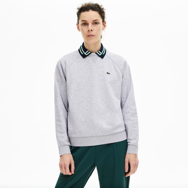 Lacoste Women's Classic Crew Neck Fleece Sweatshirt