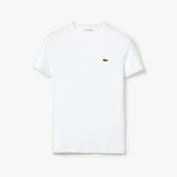 Lacoste Women's Soft Cotton Crew Neck T-Shirt