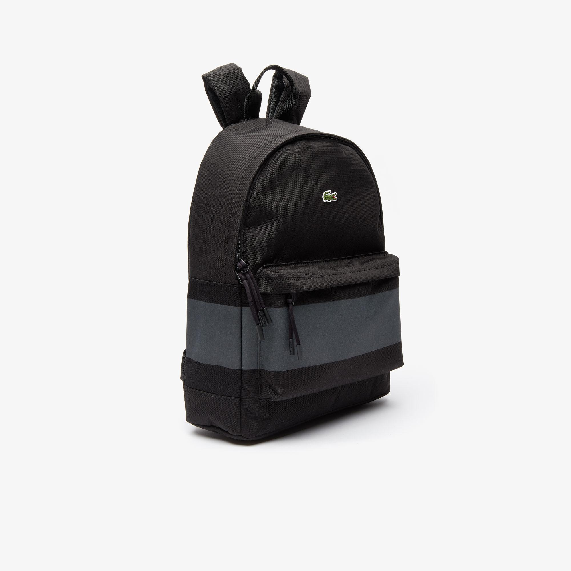 Lacoste Men's Neocroc Reflective Band Canvas Zippered Backpack