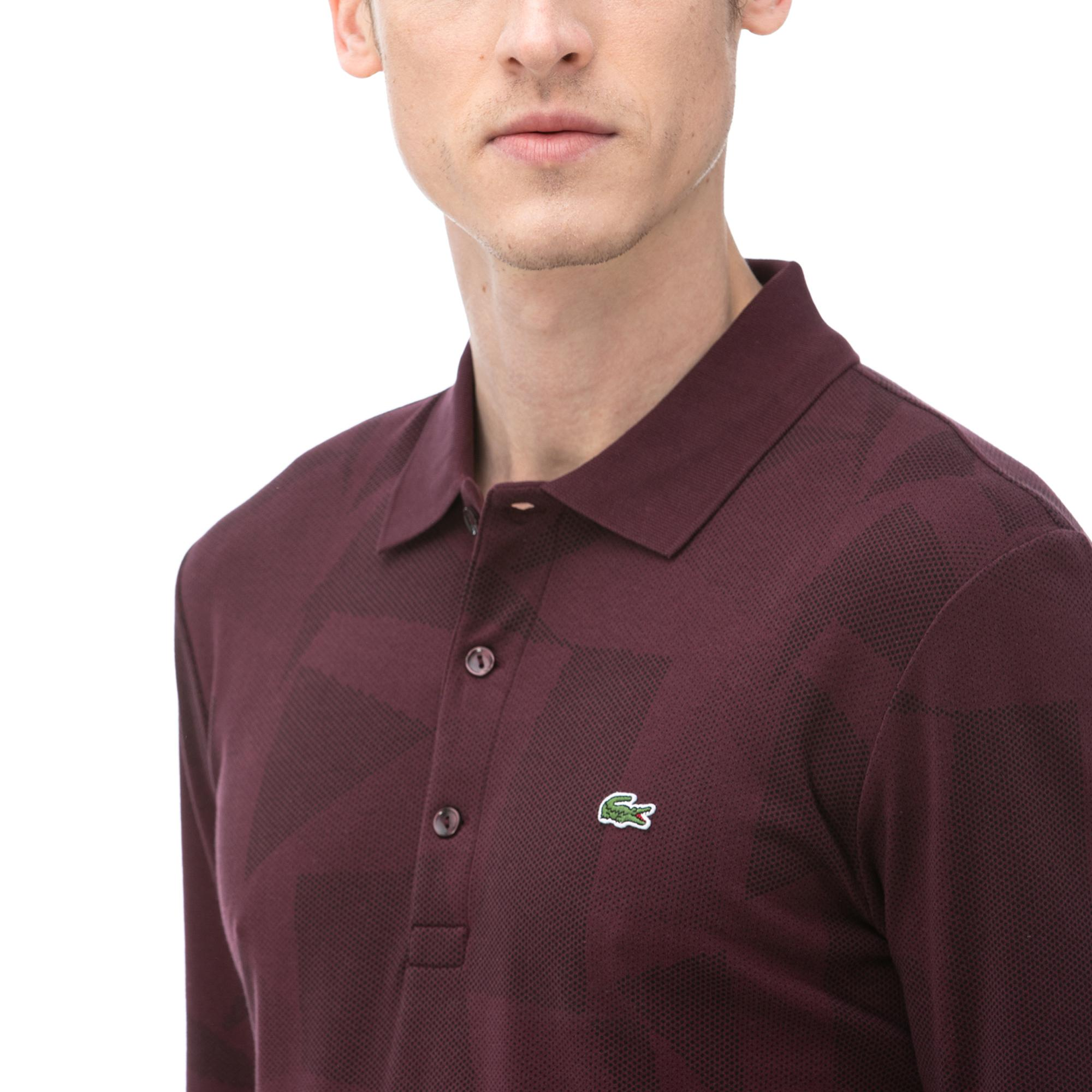 Lacoste Men's Regular Fit Jacquard Cotton Piqué Polo Shirt