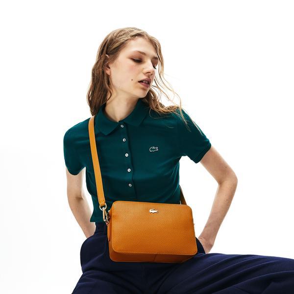 Lacoste Women's Chantaco Piqué Leather Square Shoulder Bag
