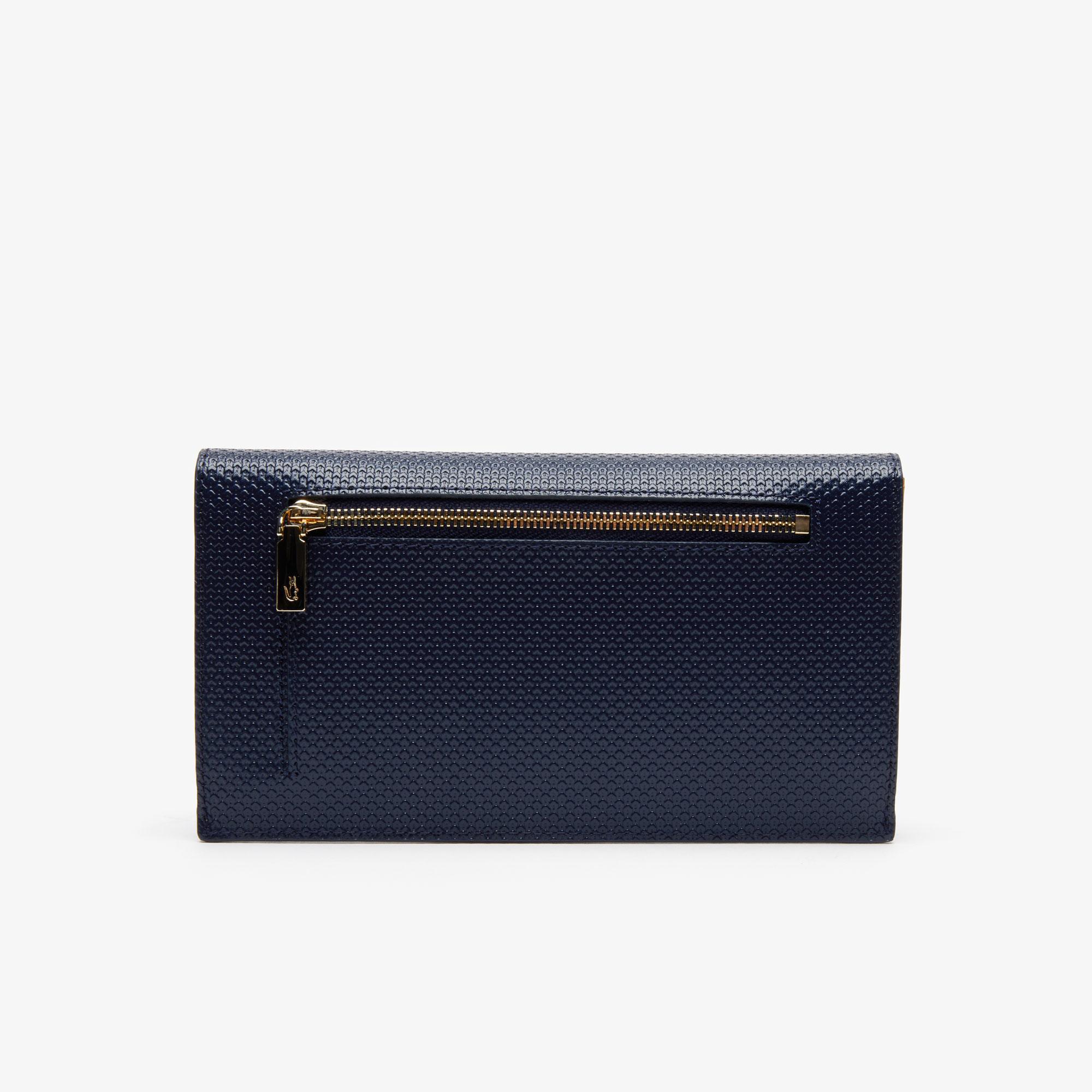 Lacoste Women's Chantaco Bicolour Piqué Leather 6 Card Wallet