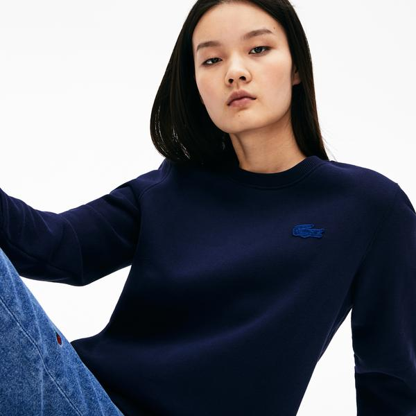 Lacoste L!VE Women's Velvet Croc Fleece Sweatshirt