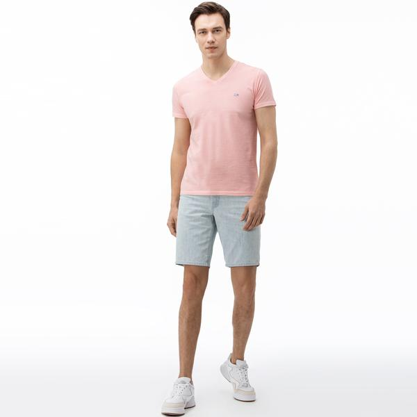 Lacoste Men's Regular Fit Five-Pocket Jean Bermudas