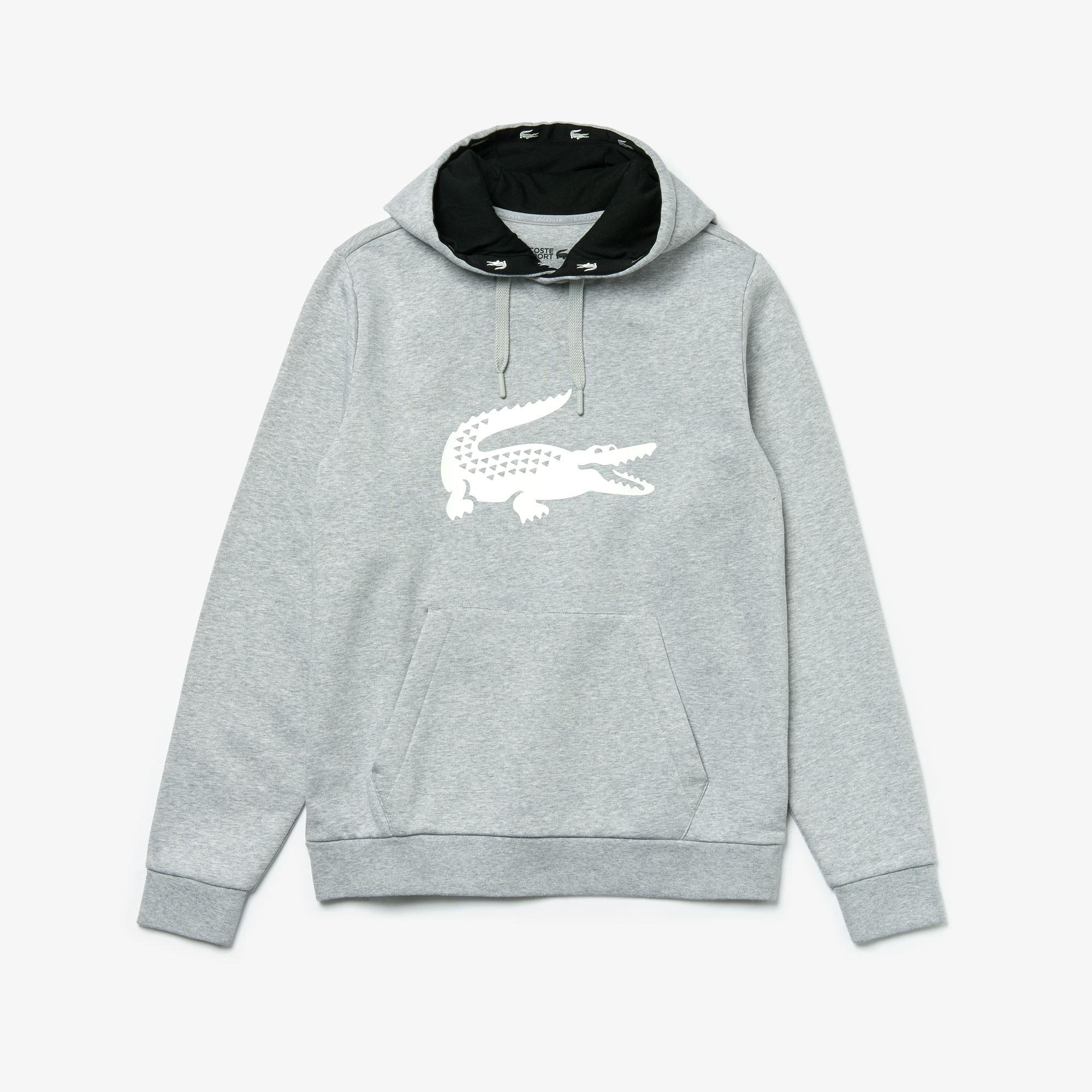 Lacoste Men's Sport Crocodile Print Hoody Sweatshirt