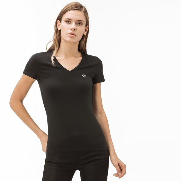 Lacoste Women's V-Neck T-Shirt
