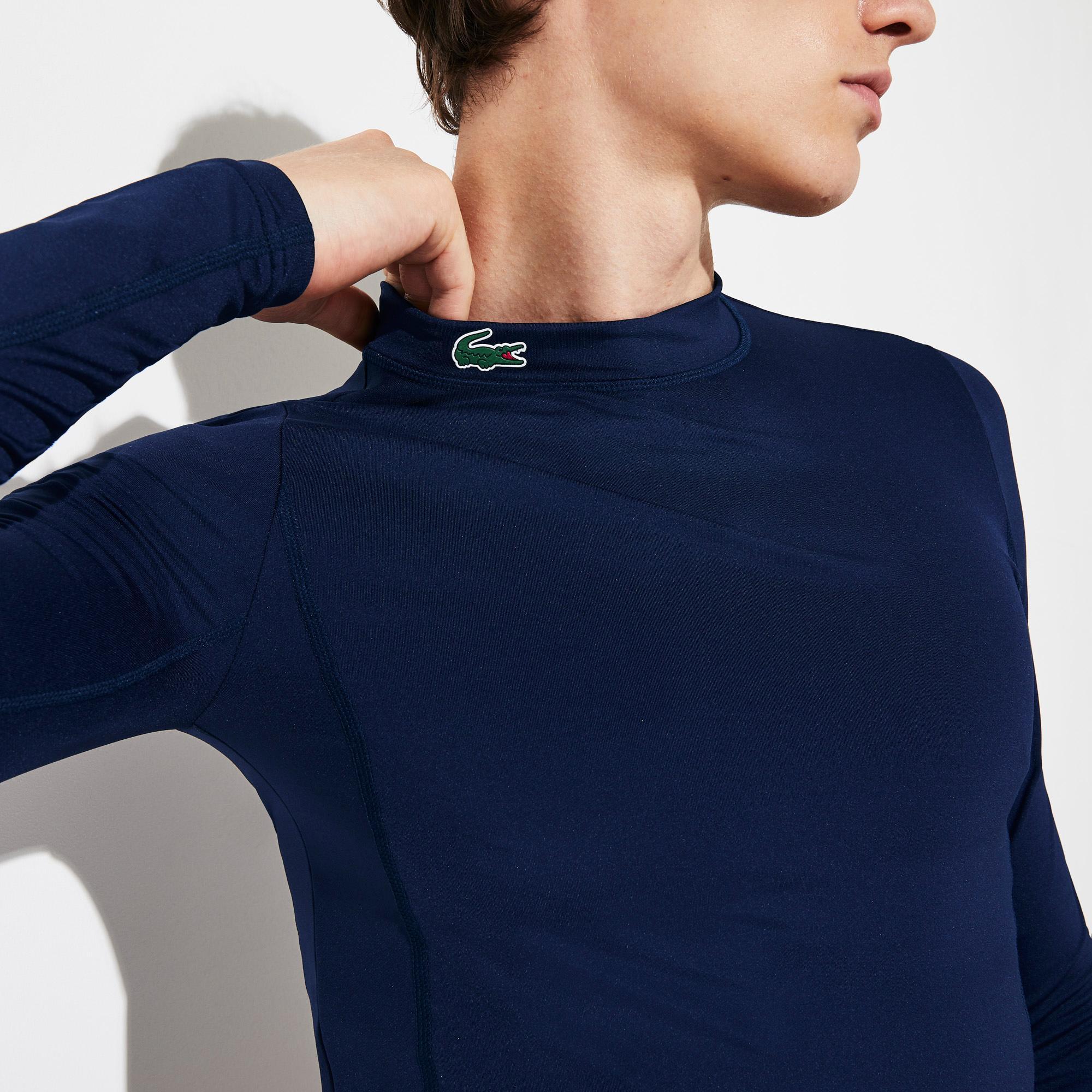Lacoste Men's SPORT Stand-Up Neck Technical Jersey Golf T-shirt