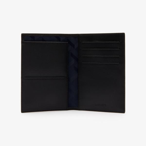 Lacoste Men's Fitzgerald Leather Passport Holder