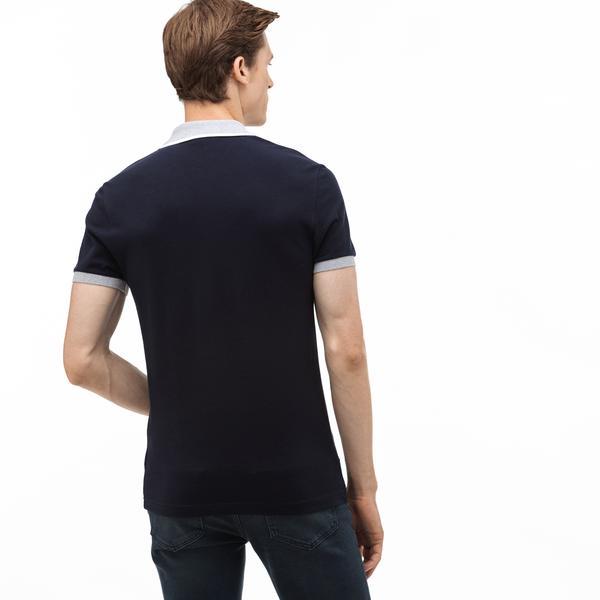 Lacoste Men's Regular Fit Block Striped Polo
