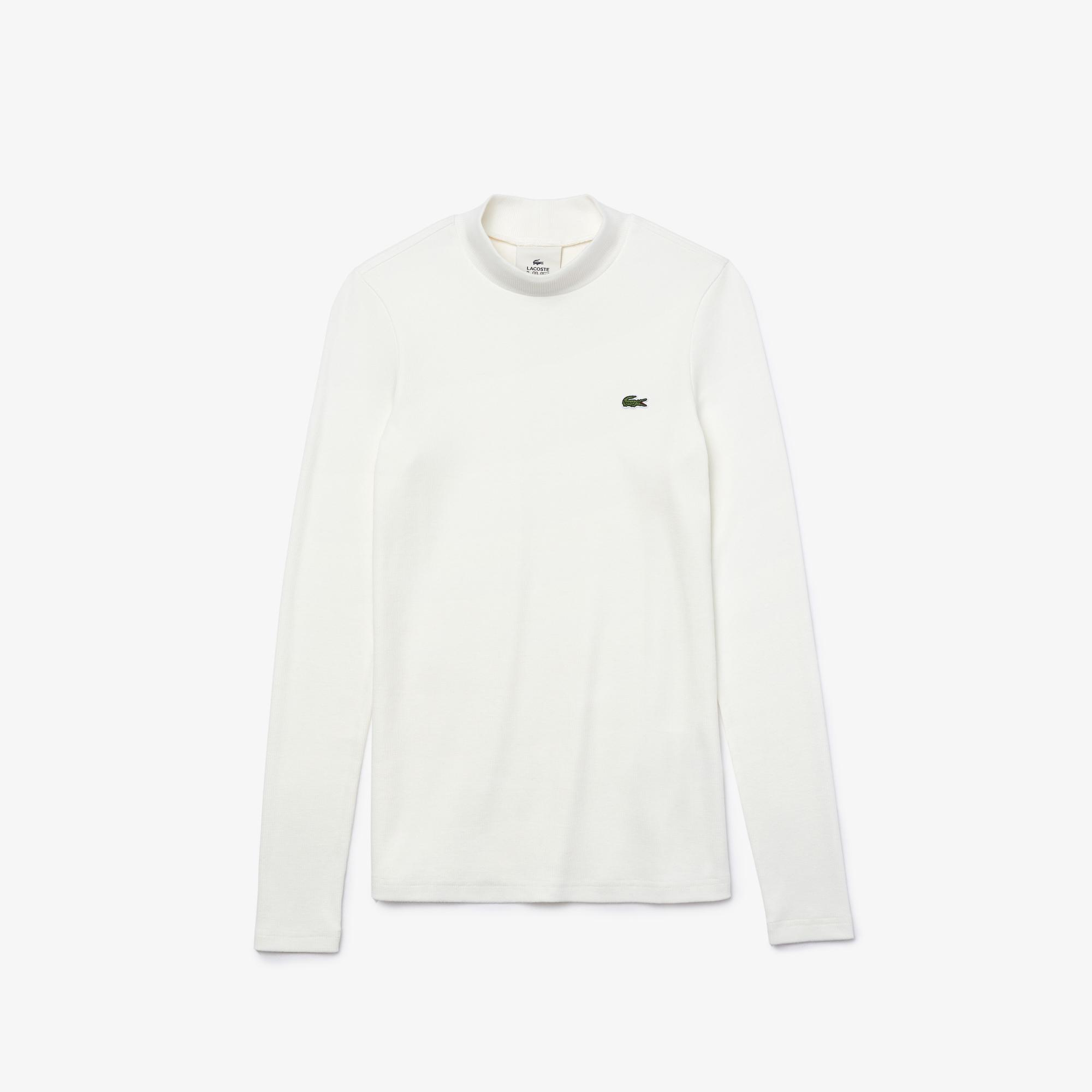 Lacoste Women's LIVE Lightweight Ribbed Cotton T-shirt