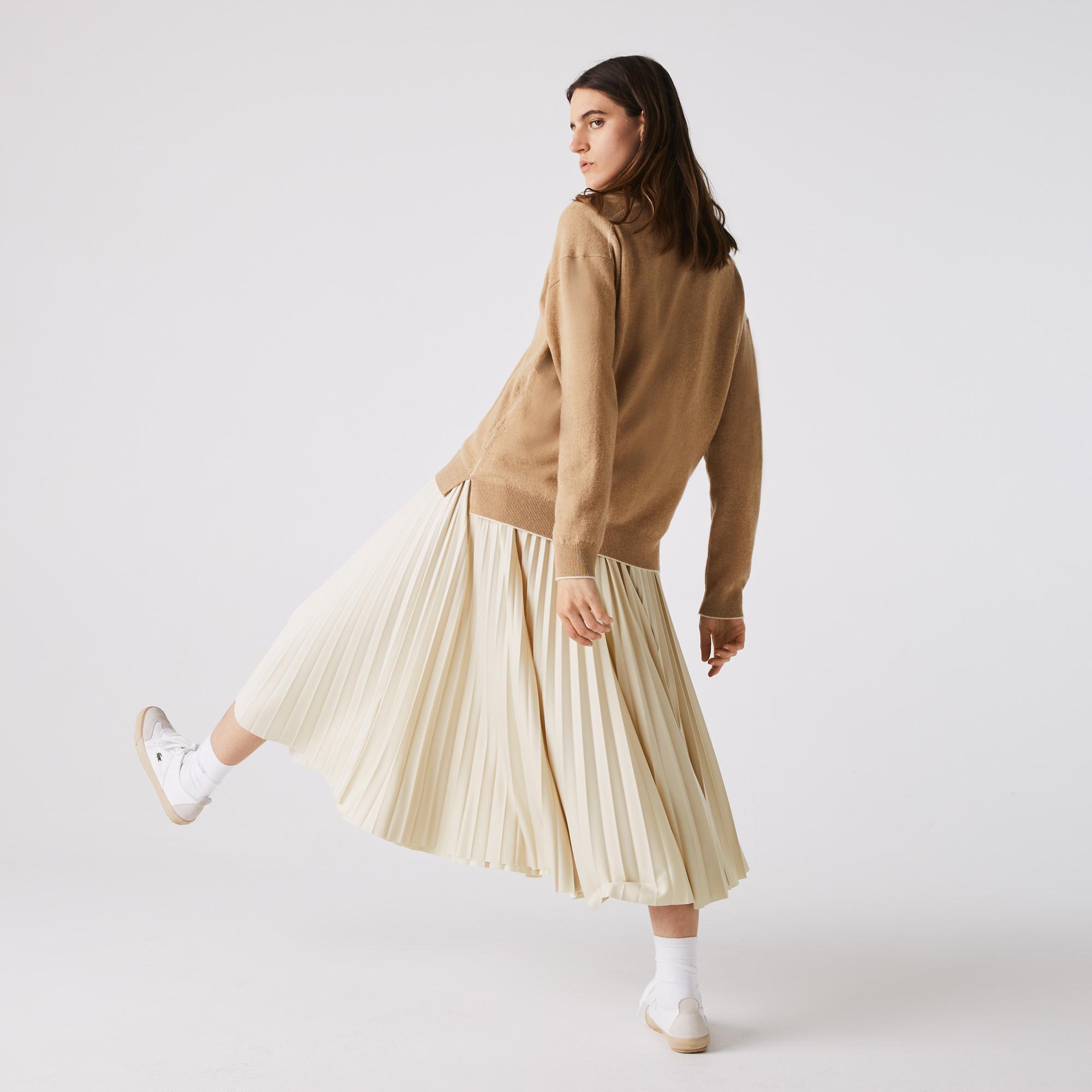 Lacoste Women's Branded Elasticised Pleated Skirt