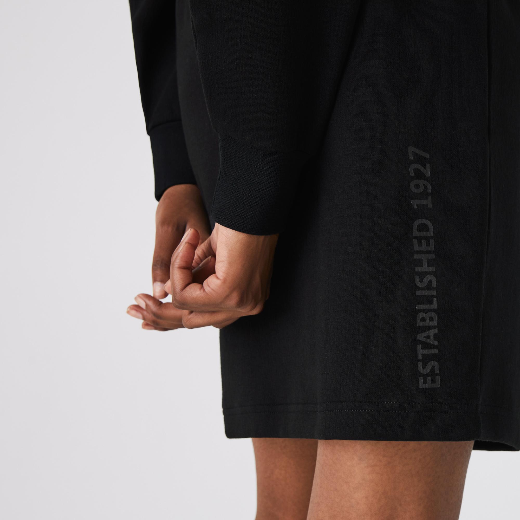 Lacoste Women's LIVE Zip Stand-up Neck Sweatshirt Dress