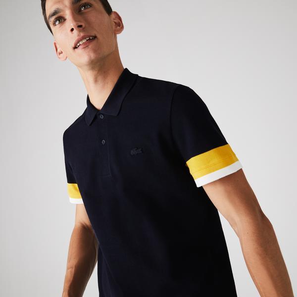 Lacoste Men's Regular Fit Textured Cotton Piqué Polo