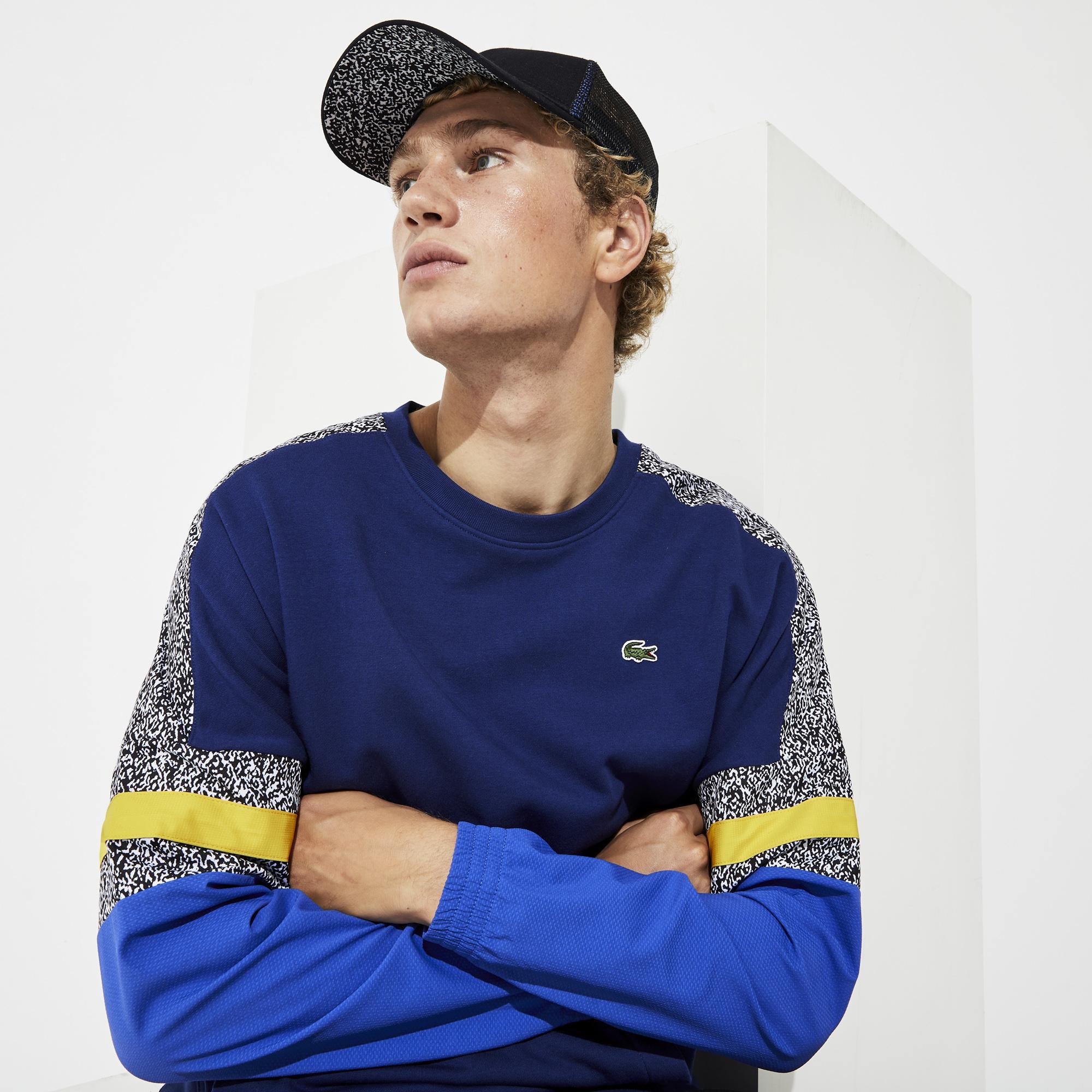 Lacoste Men's Sport Bi-Material Print Sweatshirt