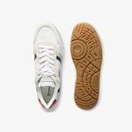 Lacoste Men's T-Clip Tricolour Leather and Suede Sneakers