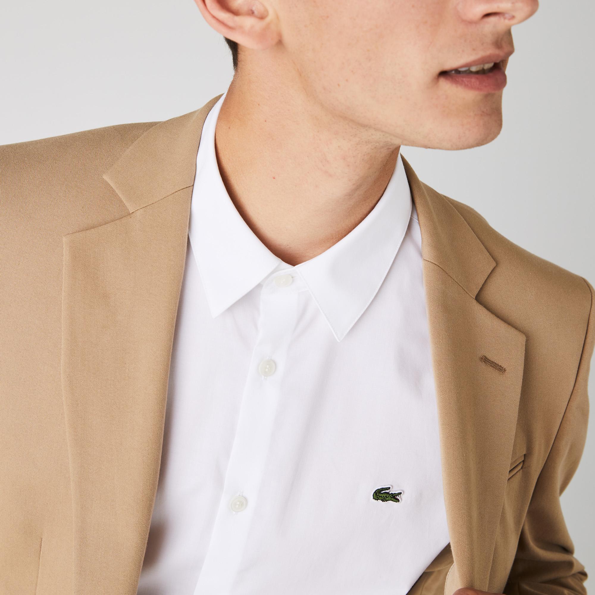 Lacoste Men's Slim Fit Stretch Cotton Poplin Shirt