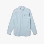Lacoste Men's Slim Fit Small Houndstooth Print Cotton Shirt