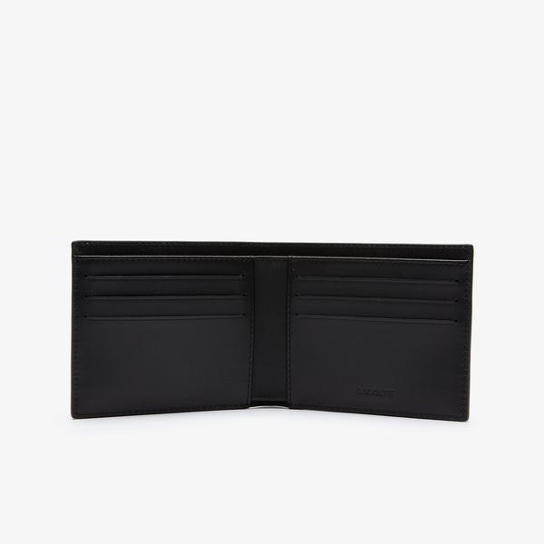 Lacoste Men's Fitzgerald Smooth Leather Wallet And Key Chain Gift Box