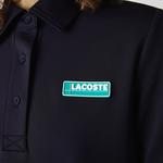 Lacoste Women's LIVE Straight Cut Badge Flowing Polo Dress