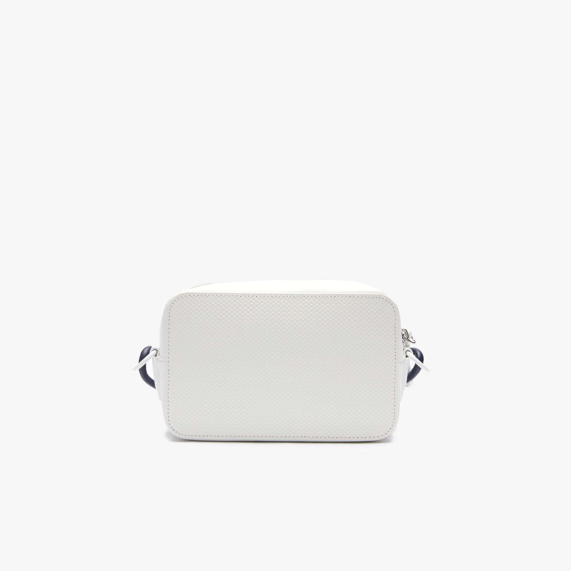 Lacoste Women's Chantaco Badge Small Matte Piqué Leather Shoulder Bag