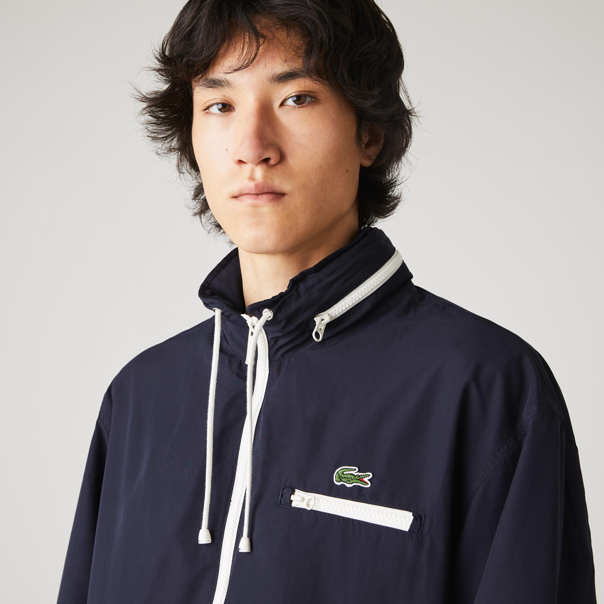 Lacoste Men's Lightweight Water-Resistant Hooded Windbreaker