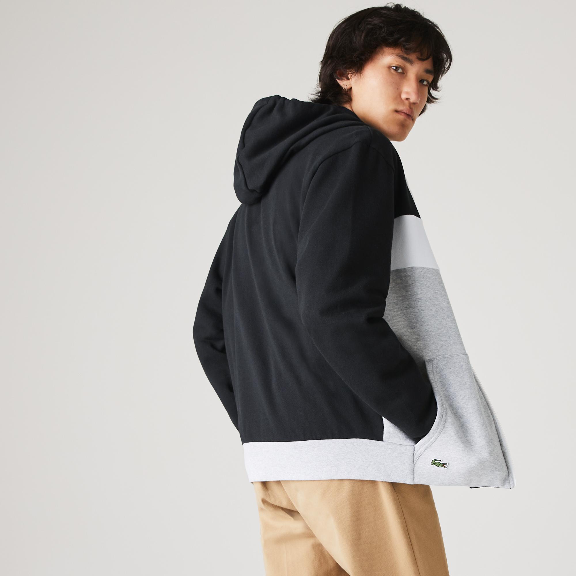 Lacoste Men's SPORT Colorblock Fleece Zip Sweatshirt