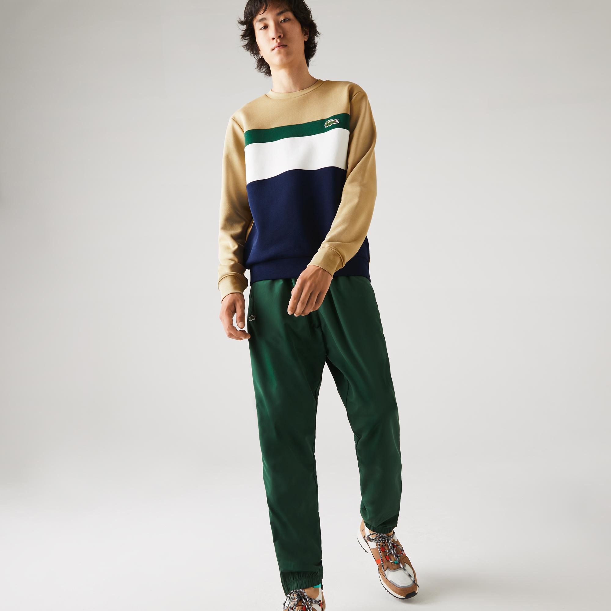 Lacoste Men's Colorblock Fleece Crew Neck Sweatshirt