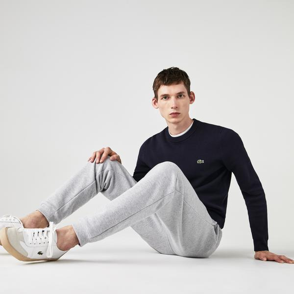 Lacoste Men's Crew Neck Organic Cotton Piqué Sweater