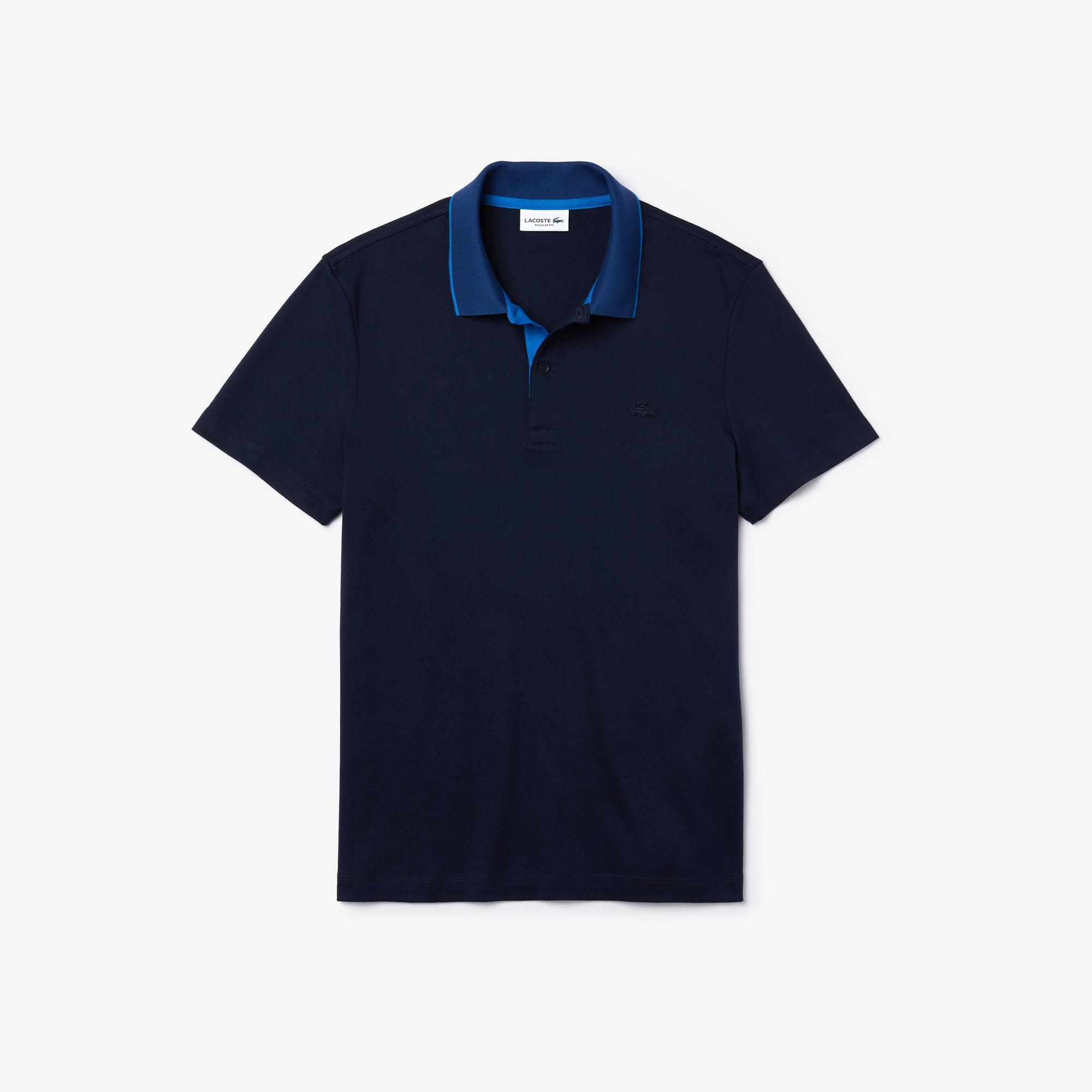 Lacoste Men's Regular Fit Contrast Collar Soft Cotton Polo