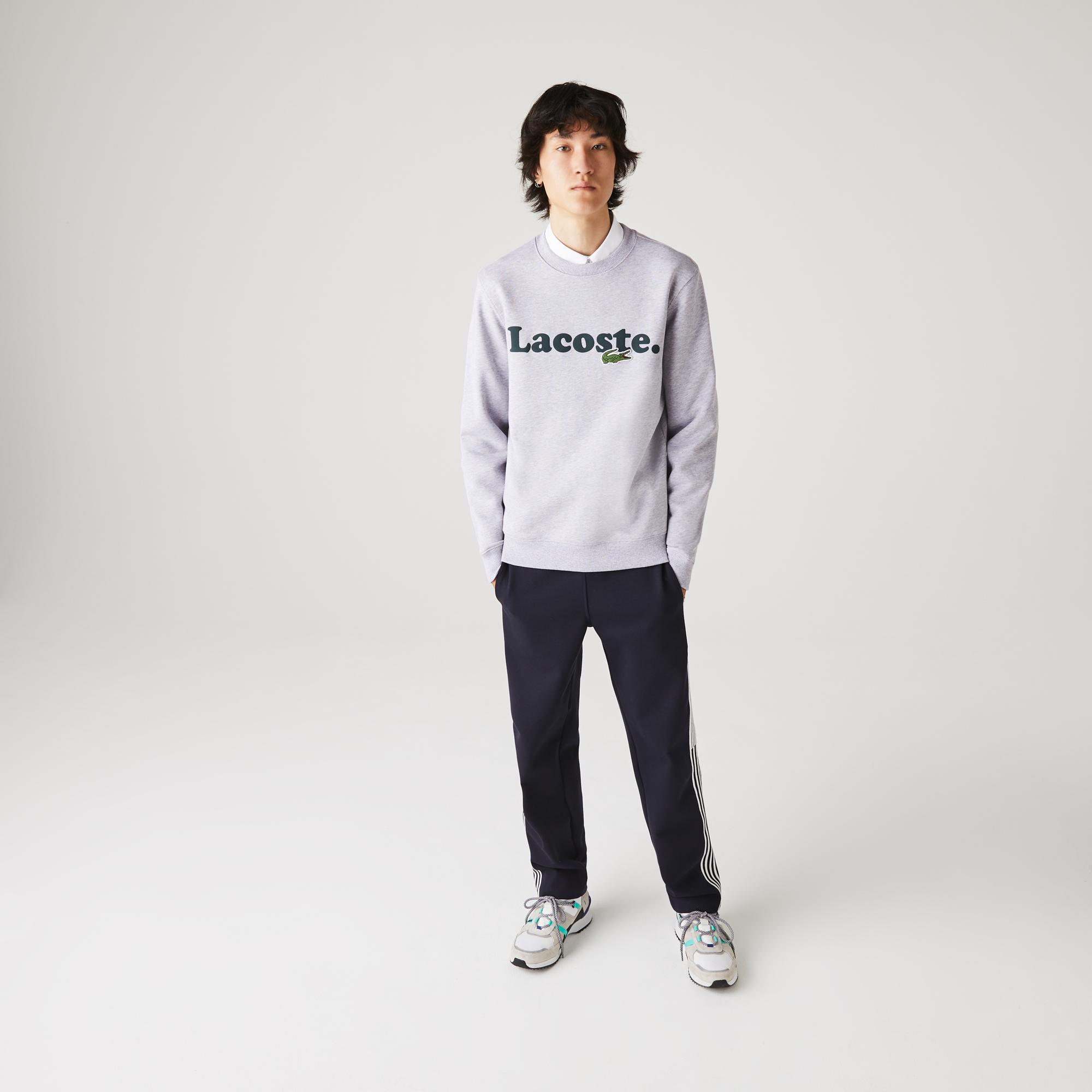 Lacoste Men's And Crocodile Branded Fleece Sweatshirt