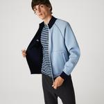 Lacoste Men's Stand-Up Collar Reversible Zippered Jacket