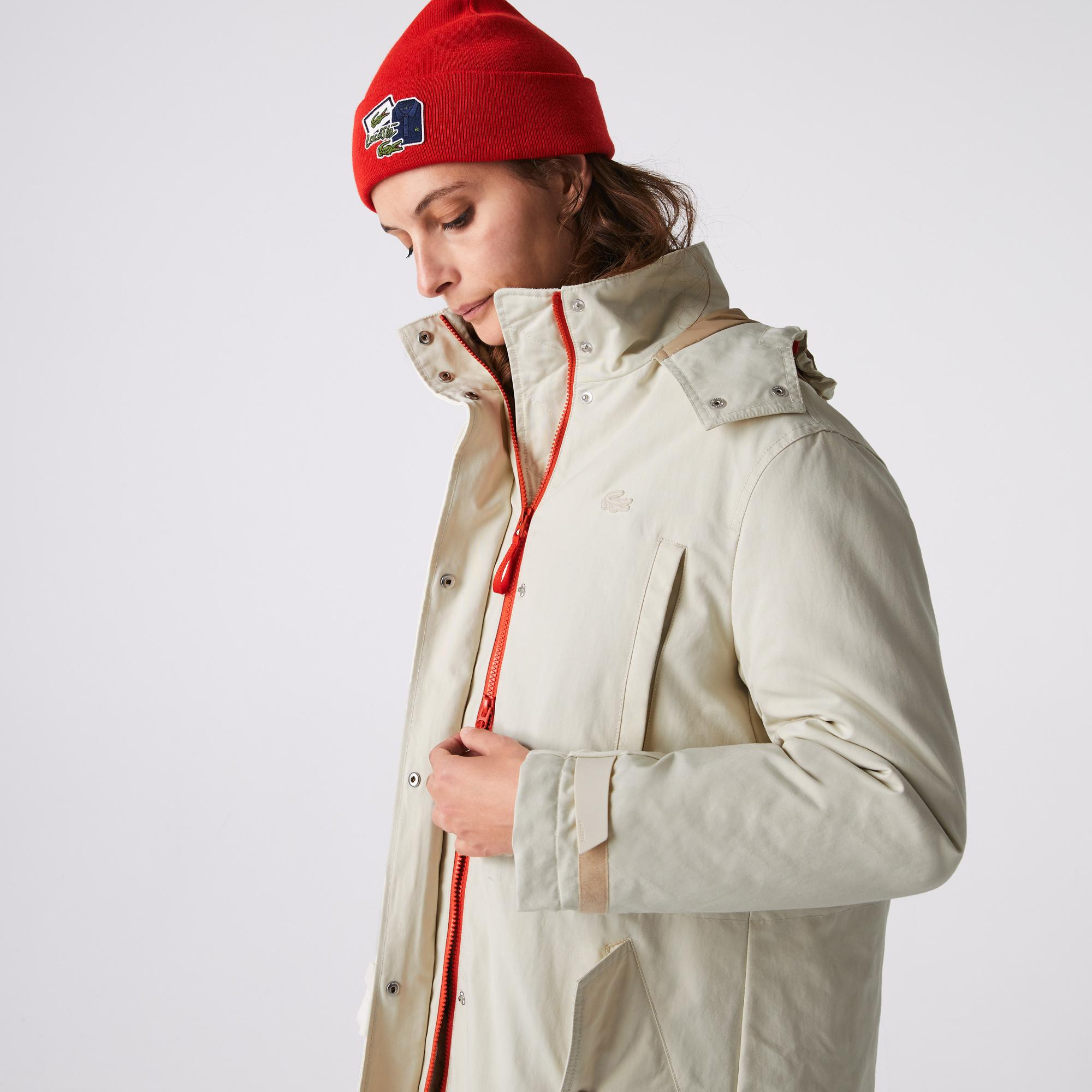 Lacoste Women's Quilted Interior Jacket Water-Resistant 3-in-1 Parka