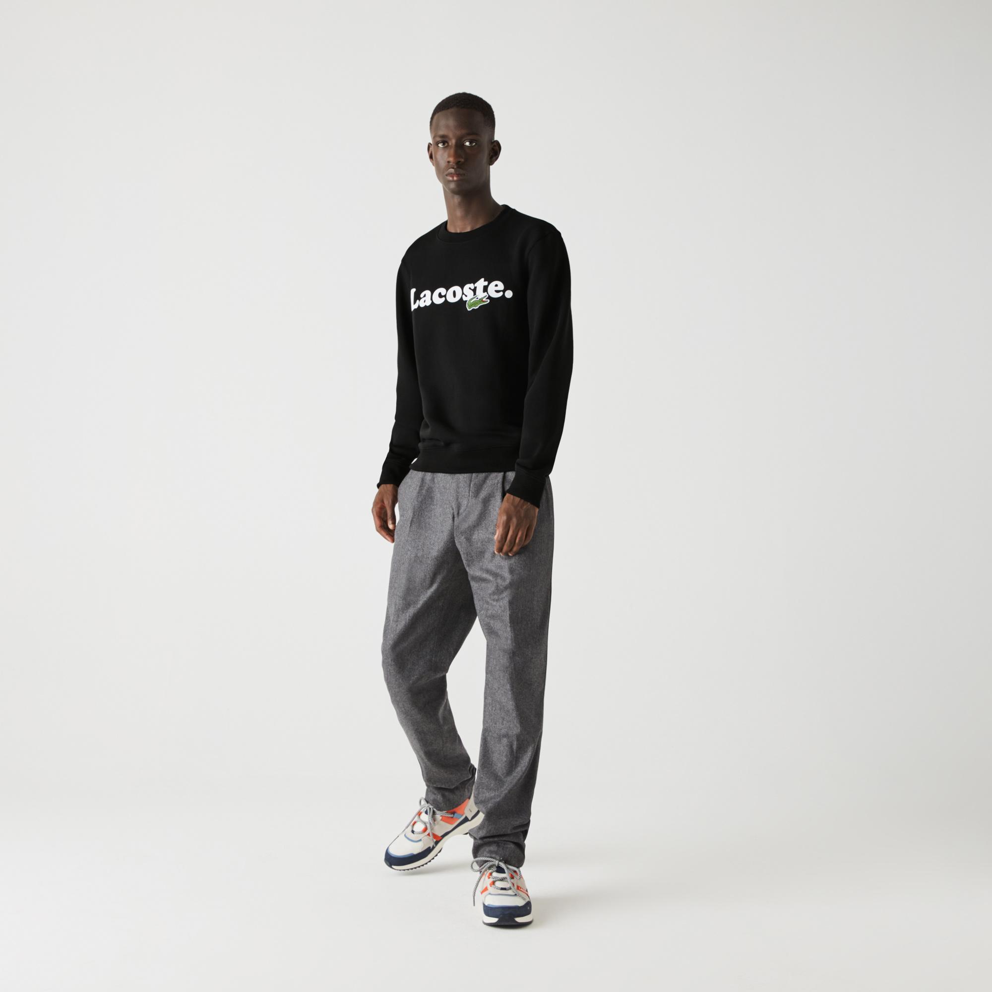 Lacoste Men's And Crocodile Branded Fleece Sweatshirt
