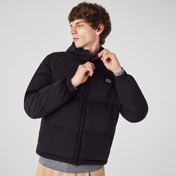 Lacoste Men's Short Lightweight Water-Resistant Puffer Coat