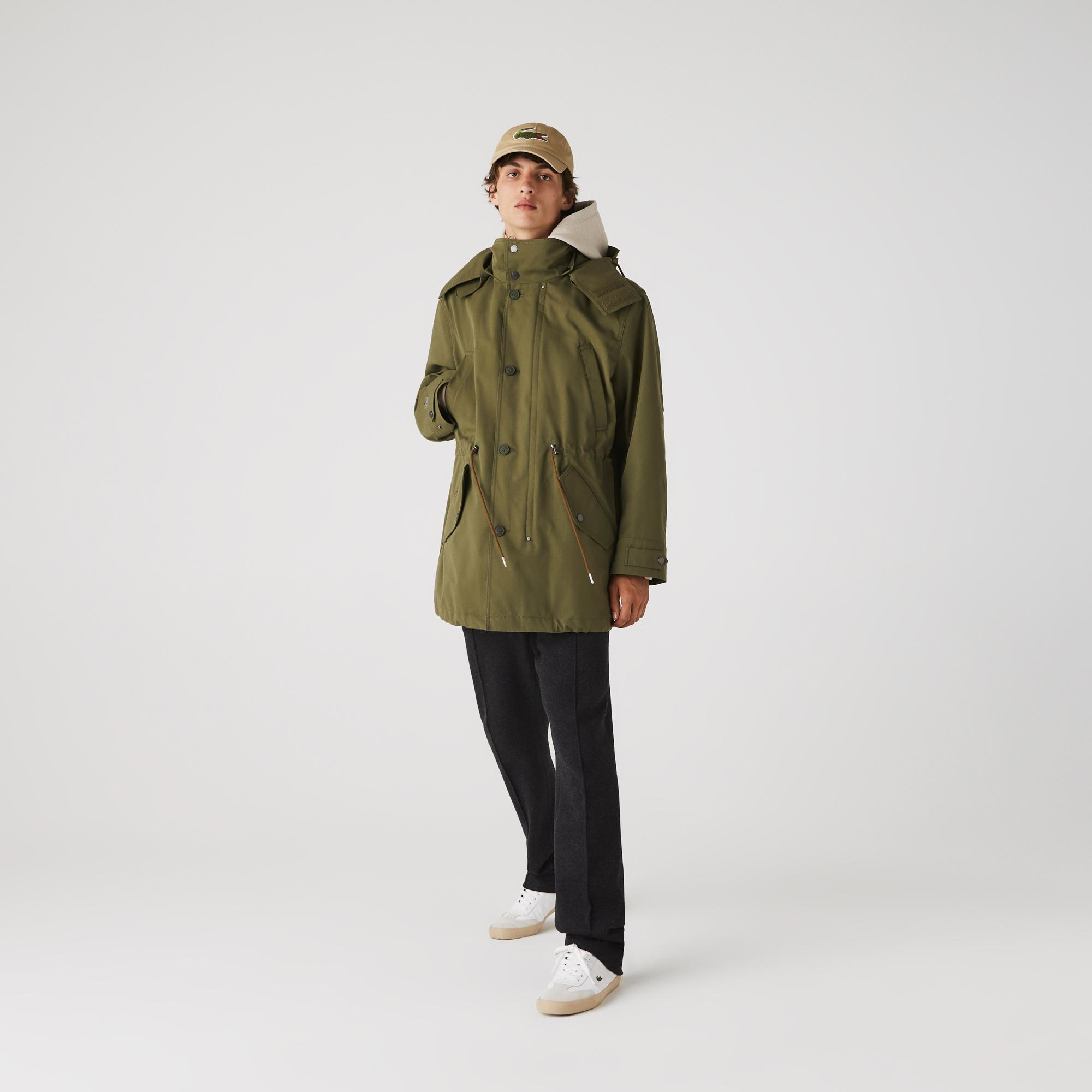 Lacoste Men's Quilted Interior Jacket Water-Resistant 3-in-1 Parka