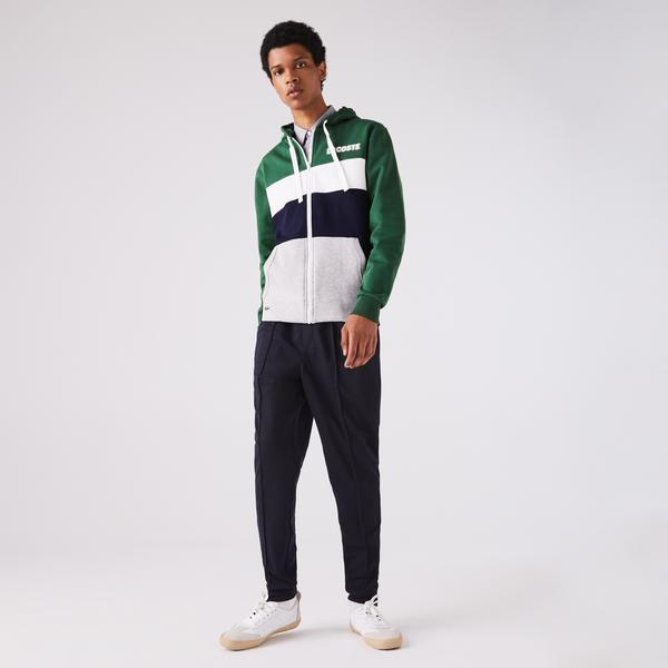 Lacoste Men's SPORT Colorblock Fleece Zip Sweatshirt