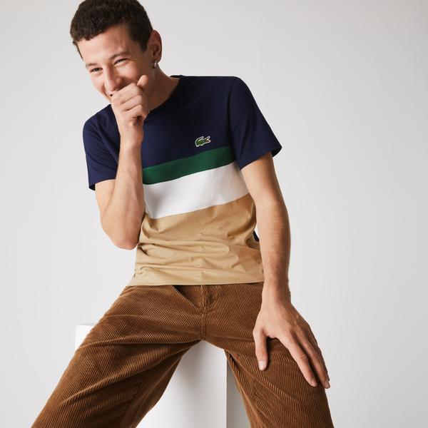 Lacoste Men's Colorblocked Panel Cotton T-shirt
