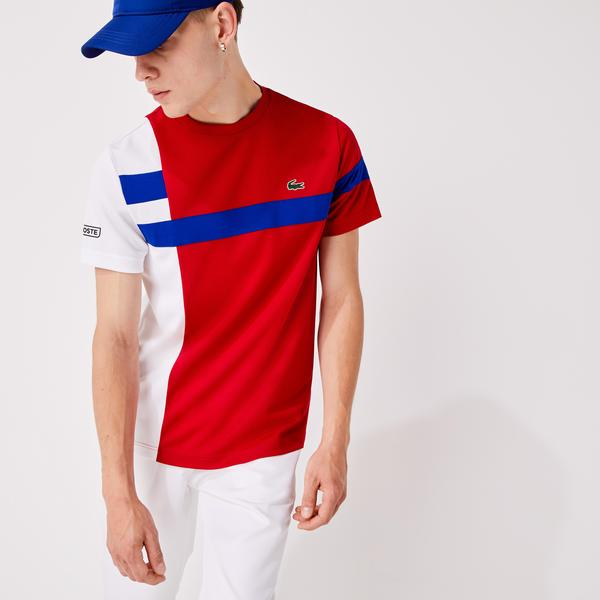 Lacoste Men's SPORT Colorblock Breathable Piqué Tennis T-shirt