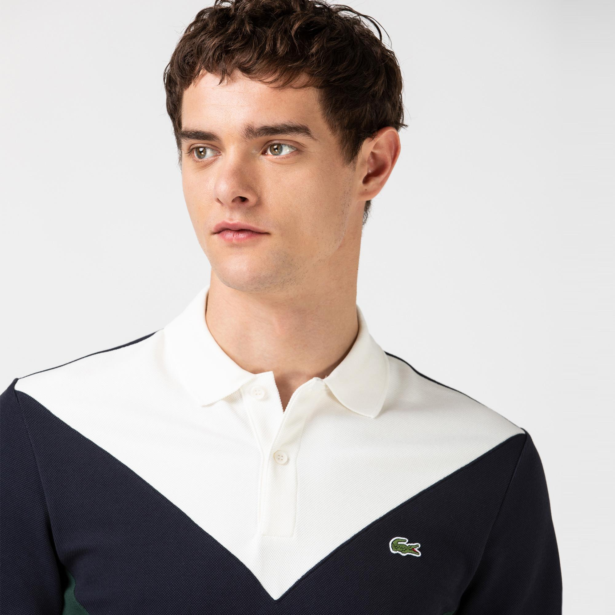 Lacoste Men's Regular Fit Geometric Colorblock Piqué Polo