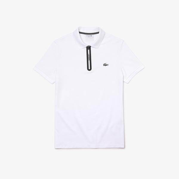 Lacoste Men's Slim Fit Zip Collar Ultra-Lightweight Piqué Polo