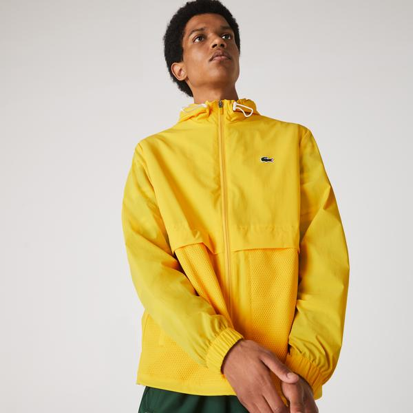 Lacoste Men's SPORT Hooded Taffeta-Lined Windbreaker